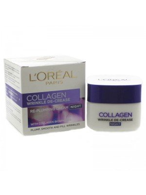 Wholesale L'Oreal Collagen Wrinkle De-Crease Re-Plumping Night Cream