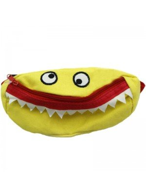 Wholesale Children's Monster Face Bum Bag - Assorted Colours