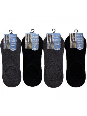 Wholesale Men's Anti-Slip Silicon Shoe Liners - Assorted Colours