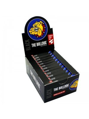 Wholesale The Bulldog 1¼ Size Rolling Papers & Filter Tips - Black