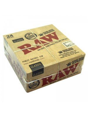 Wholesale RAW Classic Natural Unrefined Rolling Papers - King Size Supreme