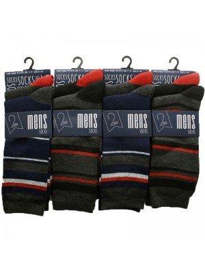 Wholesale Men's Socks Striped Design - Assorted Colours & Design