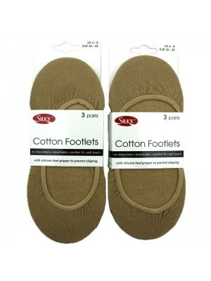 Wholesale Silky's Cotton Footlets - Nude (UK 4-8)