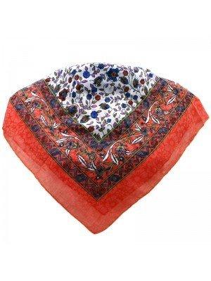 Wholesale Ladies' Square Scarves - Floral Print Design (Assorted Colours)