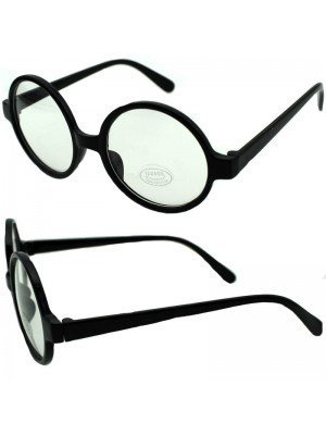 Wholesale Wizard Glasses with Clear Lens - Black Frame