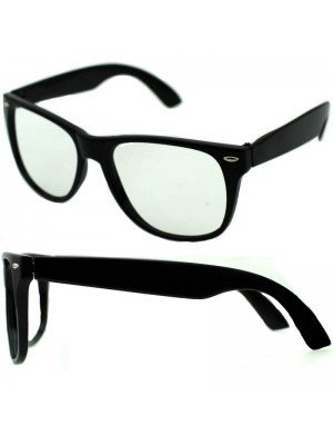 Wholesale Geek Glasses with No Lens & Black Frame