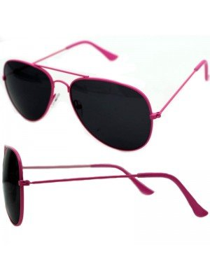 Wholesale Unisex Double Bridge Aviator Glasses - Pink
