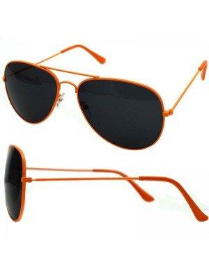 Wholesale Unisex Double Bridge Aviator Glasses - Orange