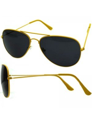Wholesale Unisex Double Bridge Aviator Glasses - Yellow