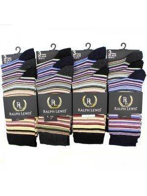 Wholesale Ralph Lewis Multi-Coloured Stripe Design - Assorted Colours