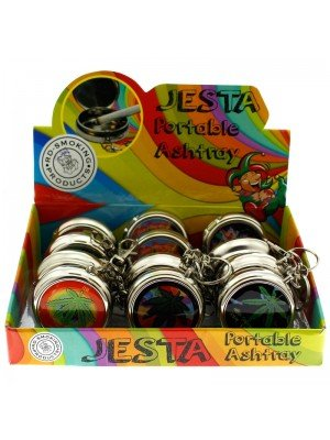 Wholesale Jesta Portable Ashtrays - Ganga Leaf Style