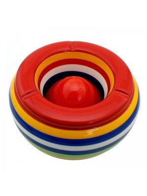Wholesale Large 2-piece Ceramic Ashtray (23cm)
