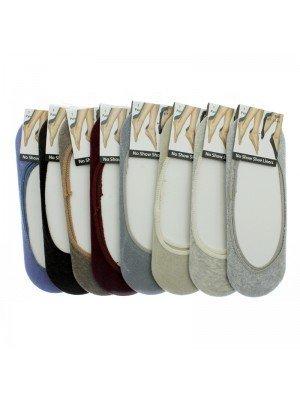 'No Show' Shoe Liners (4-7) - Assorted Colours
