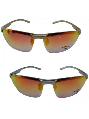 Adults Sports Sunglasses Mirror Effect - Assorted