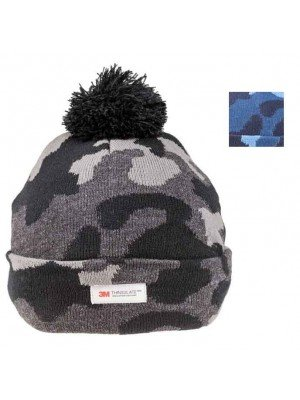 Wholesale Mens Camo Thinsulate Knitted Bobble Hat