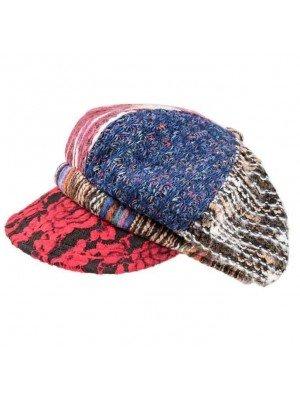Wholesale Ladies Multicolour Pattern Bakerboy Cap