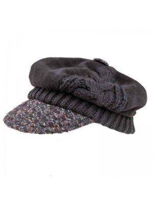 Wholesale Ladies Pattern Baker Boy Cap With Fleece