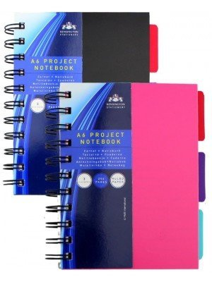 Wholesale Project Notebook A6 Spiral Bound With Three Dividers