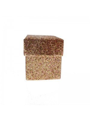 Rose gold glitter gift box 5x5x3.5cm