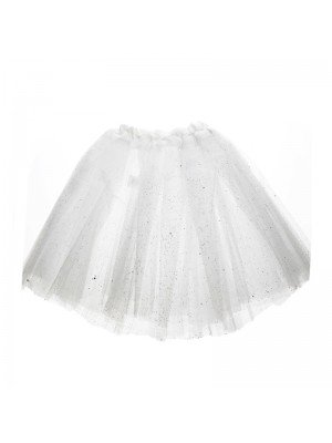 Wholesale Adults White Glitter Tutu Skirt