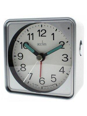Acctim Adina Quartz Alarm Clock - Silver