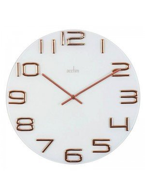 Wholesale Acctim Friesland White Glass Wall Clock