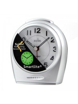 Wholesale Acctim Non-Ticking Sweeper Broadway Alarm Clock - Silver