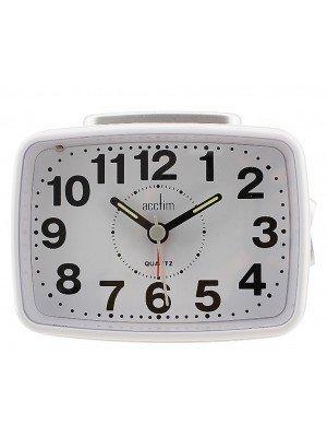 Wholesale Acctim Quartz Alarm Clock - White