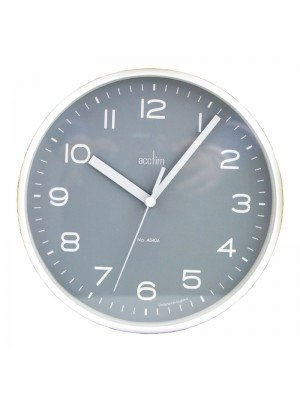 Wholesale Acctim Runwell Wall Clock - White With Grey Dial