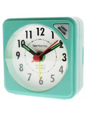 Acctim Ingot Quartz Mini Alarm Clock - Lucite Green