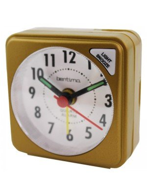 Acctim Ingot Quartz Mini Alarm Clock - Mustard Gold