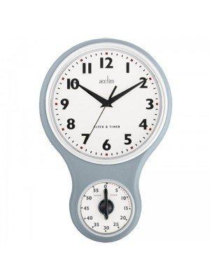 Acctim Kitchen Time Wall Clock - Grey