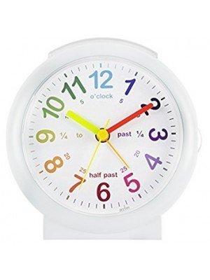 Acctim Lulu 2 Alarm Clock - White & Silver