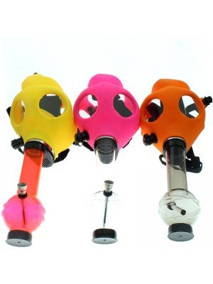 Wholesale Acrylic W-Pipe with Gas Mask Assorted