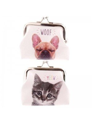 Cat and Dog MEOW & WOOF Tic Tac Purse - Assorted