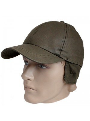 Adjustable Wax Baseball Cap With Ear Flaps Assorted