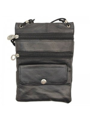 Wholesale Ladies Leather Purse With Leather-Black