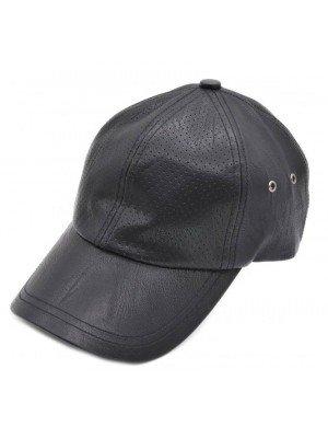 Adult Faux Leather Baseball Cap