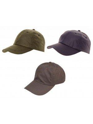 Adults 6 Panel Wax Baseball Cap - Assorted