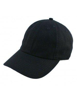 Adults Adjustable Baseball Cap - Black
