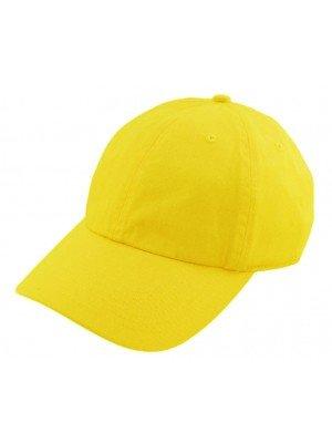 Adults Adjustable Baseball Cap - Yellow