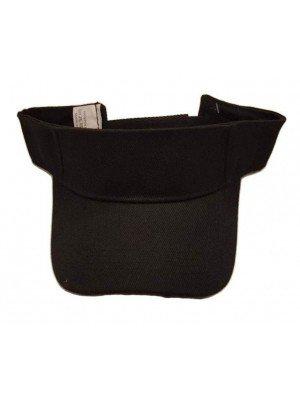 Adults Plain Visors With Velcro Adjuster - Black