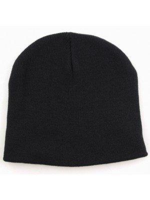 Adults Reversible Beanie Hat - Black