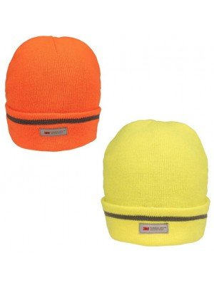 Adults Unisex Reflective Hi Vis Thinsulate Ski Hat -Assorted Colours