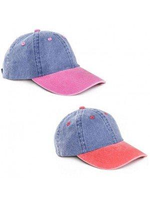 Wholesale Adults Unisex Washed Baseball Cap - Assorted Colours