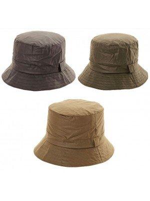 wholesale Adults Wax Bush Hat - Assorted