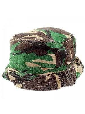 Adults' Green Camo Reversible Bush Hat