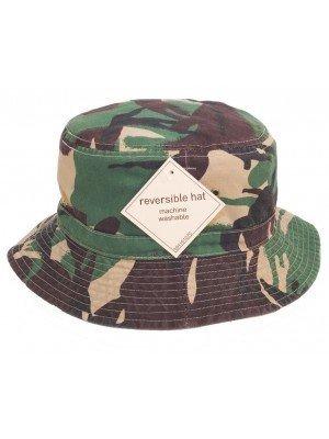 Wholesale Adults' Green Camo Reversible Bush Hat