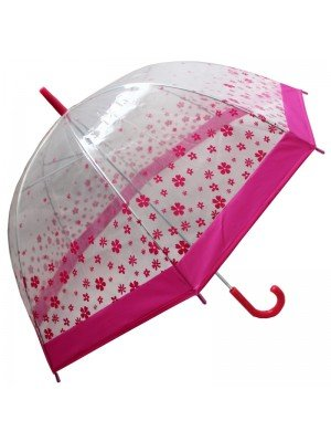Adults Transparent Umbrellas - Assorted Colours & Designs