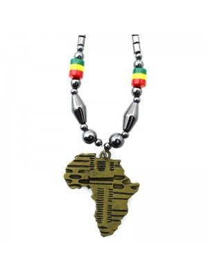 Wholesale Africa Continent Design Necklace - Gold